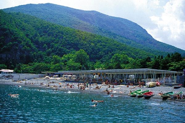 Пляж в Крыму.